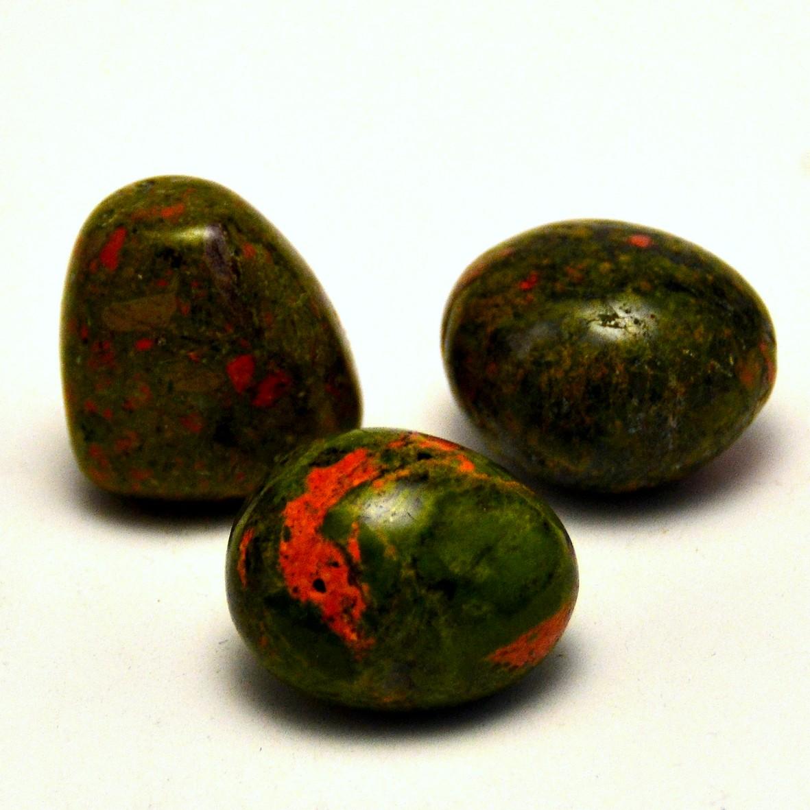 pierre roulée unakite naturelle