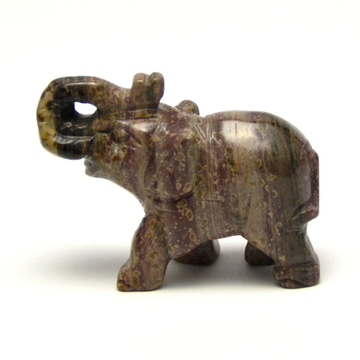 statuette minéraux  éléphant, en pierre naturelle de stéatite