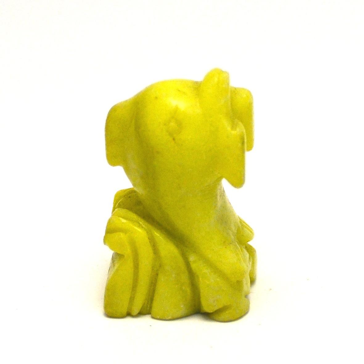 statuette minéraux  dauphin , en pierre naturelle de jade néphrite jaune