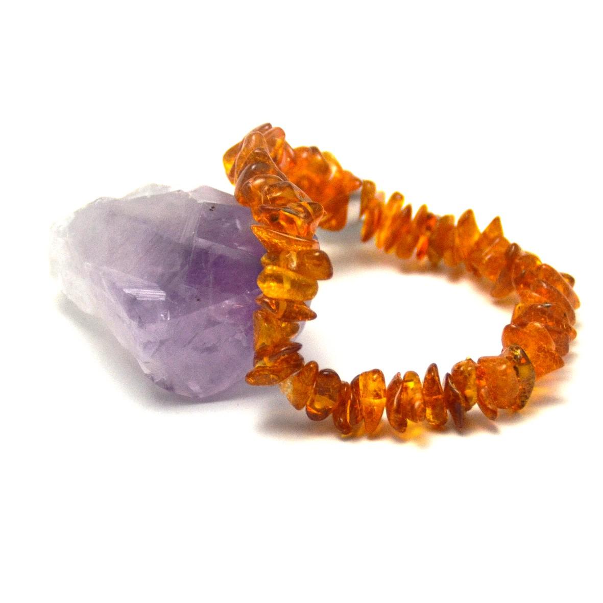 bracelet ambre de la mer Baltique, perle chips