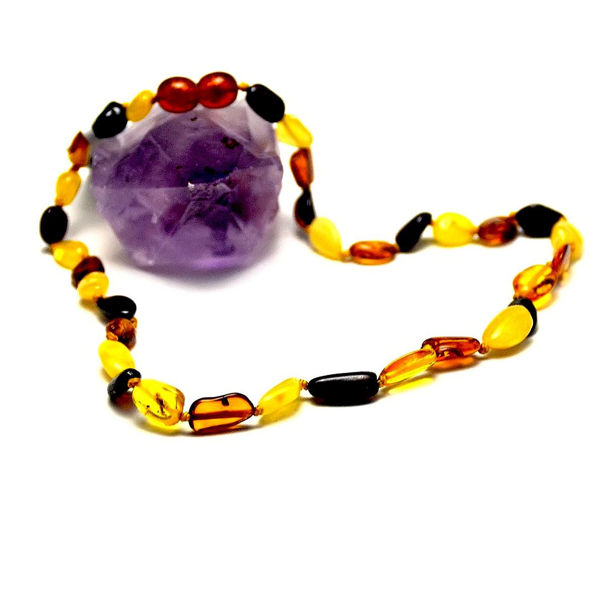 collier ambre trois couleur baroque