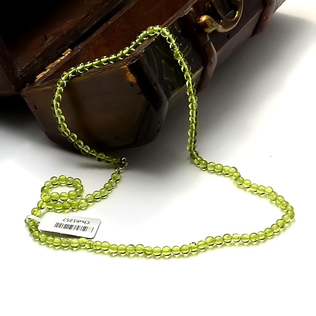 collier péridot  ronde 4 mm