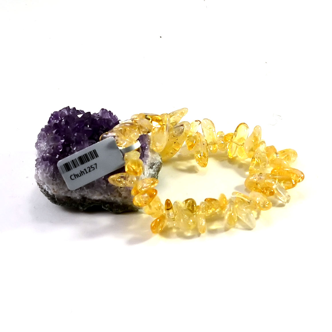 bracelet citrine  pointe baroque