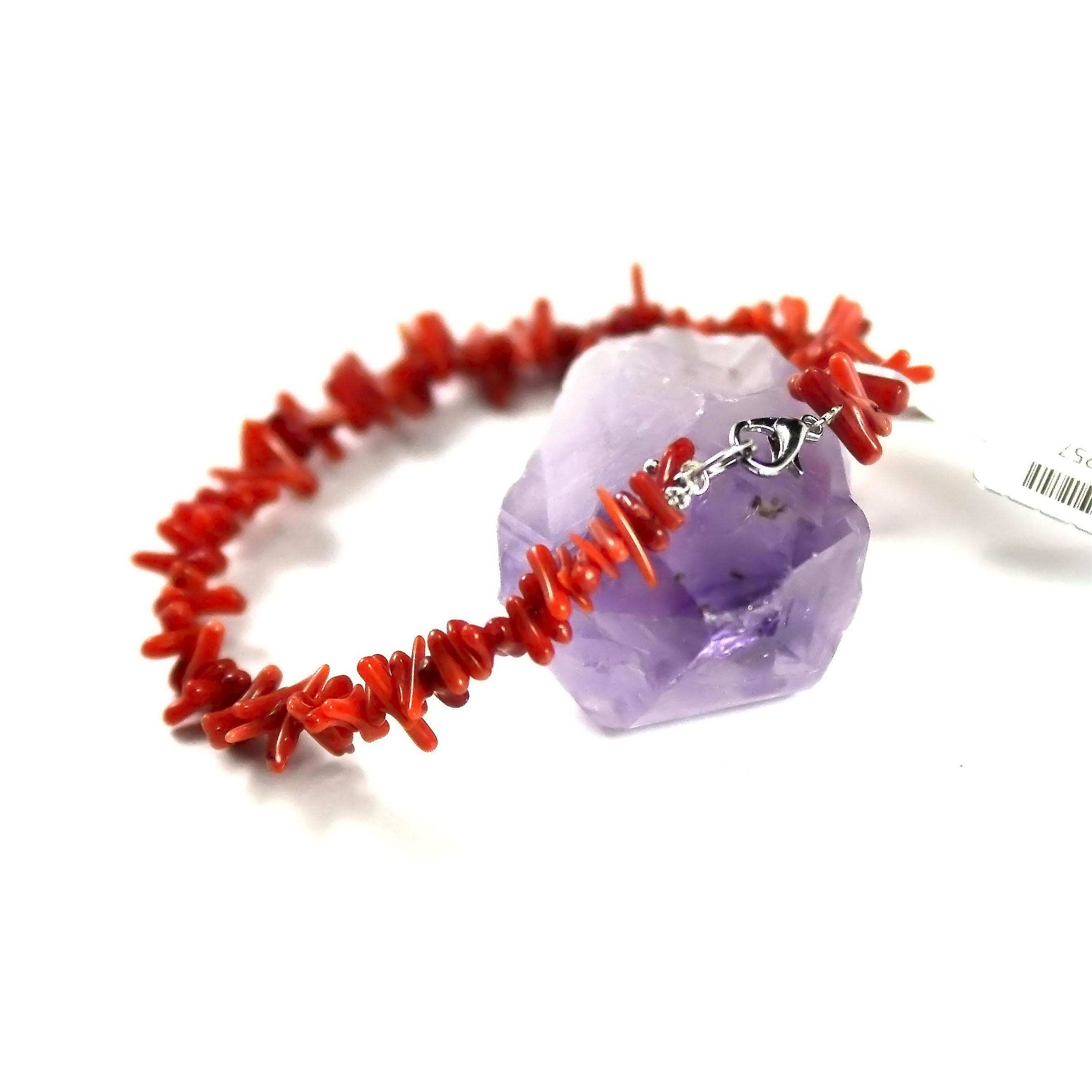 bracelet corail / bambou de mer , branche brut