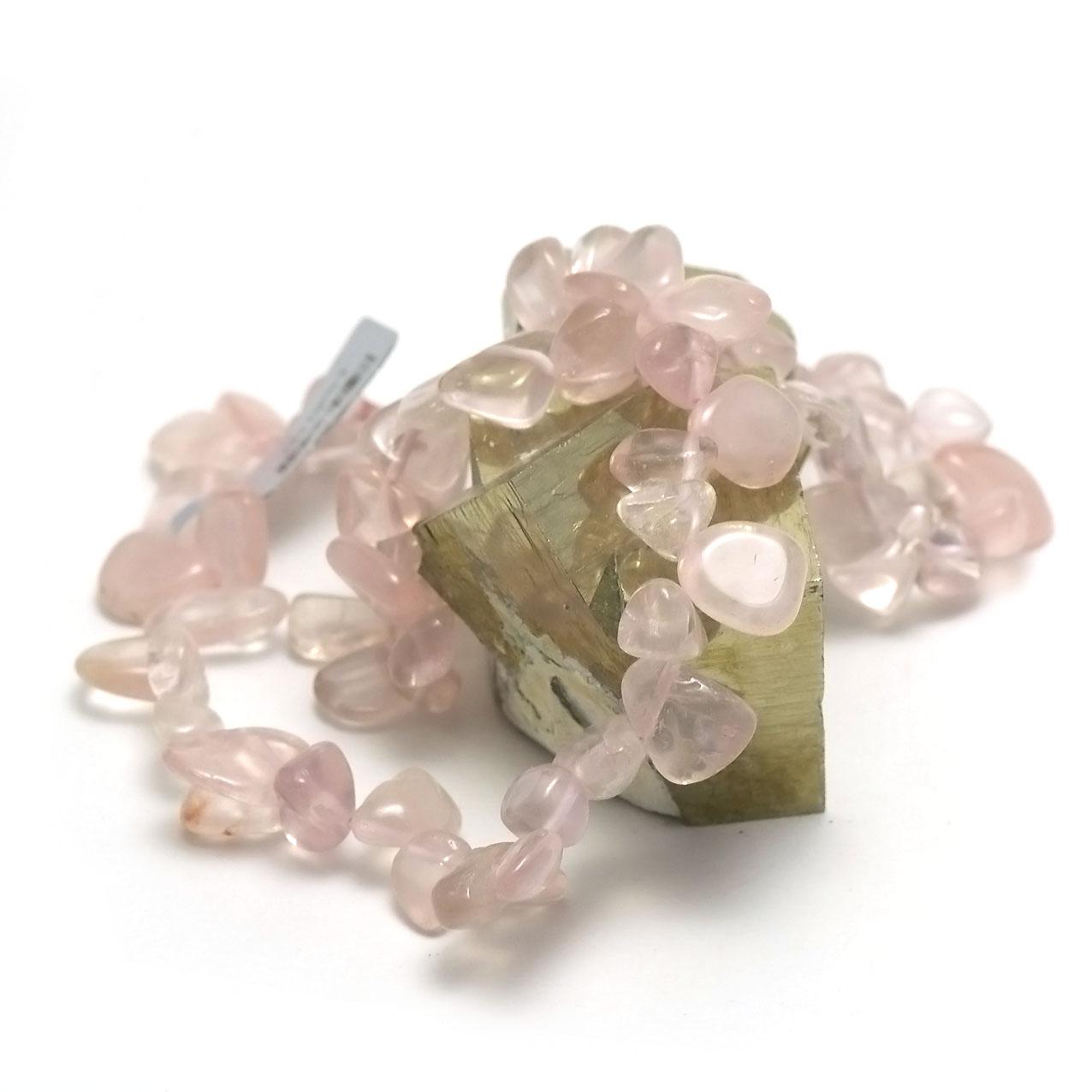 Collier quartz rose  perle TS baroque