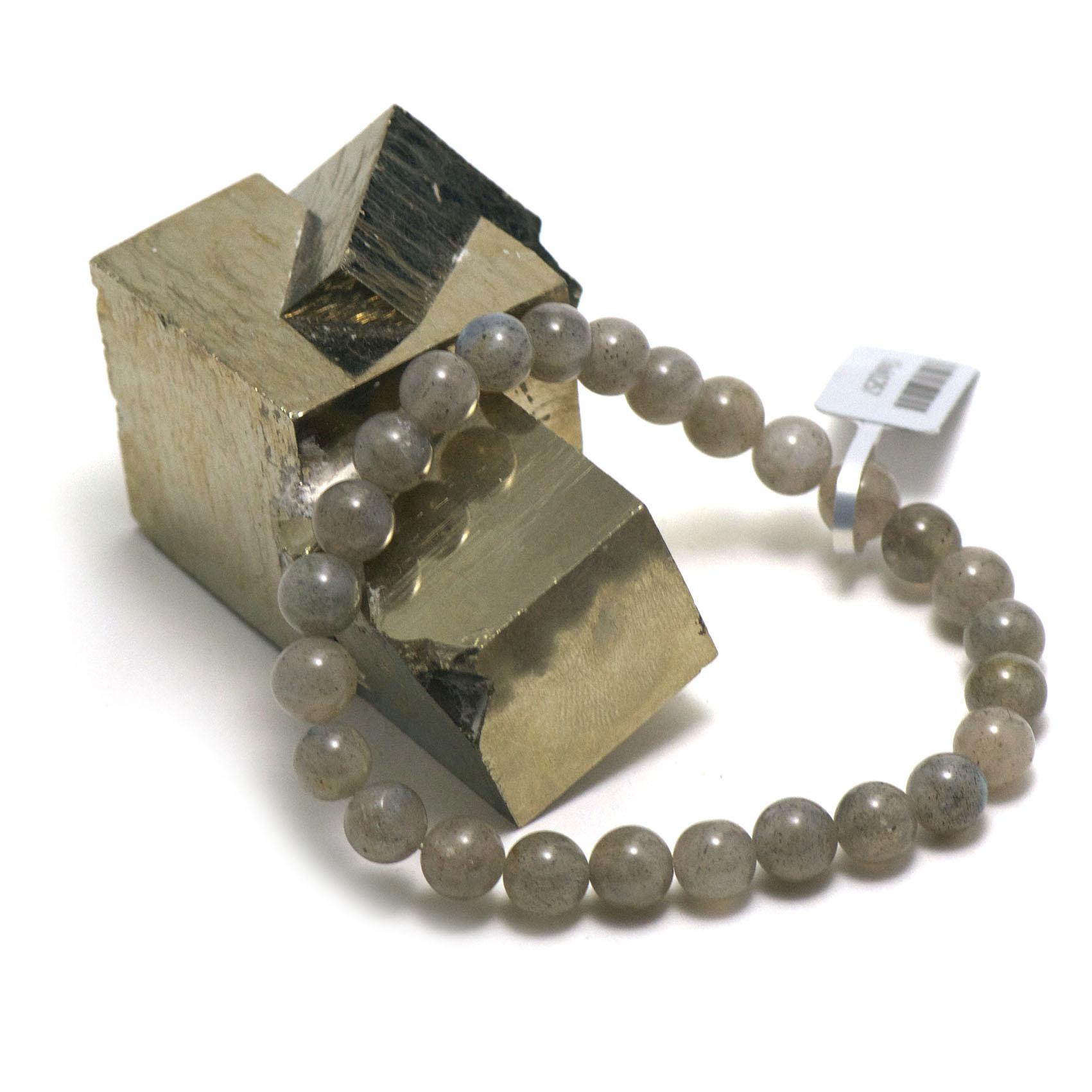 bracelet labradorite ,  perle ronde 8 mm