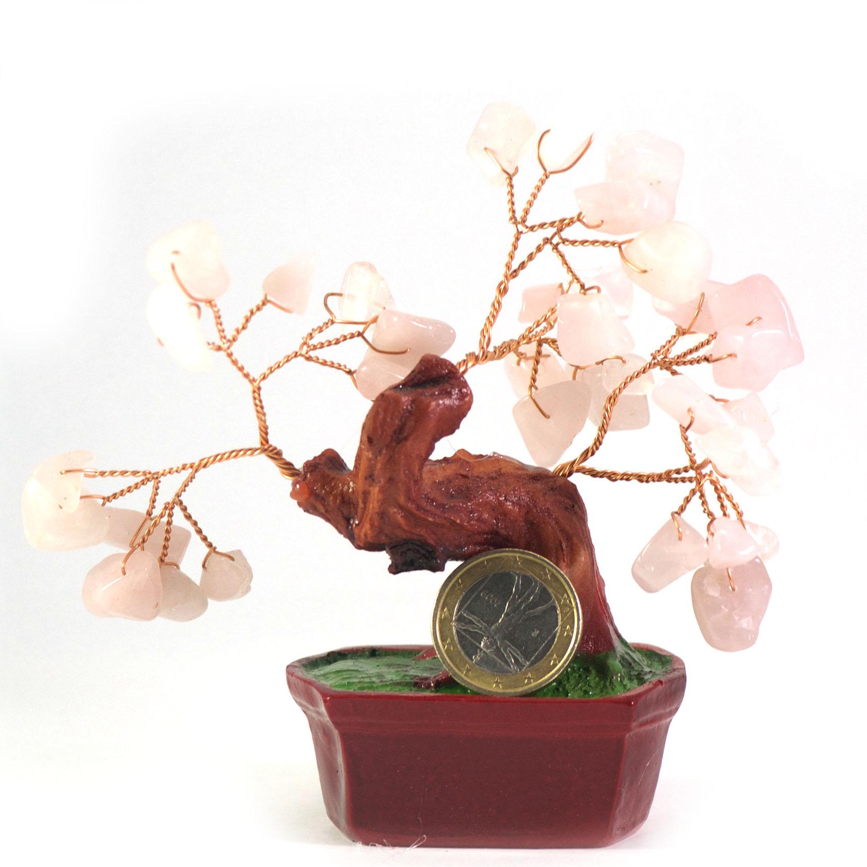 Arbre de prospérité quartz rose A