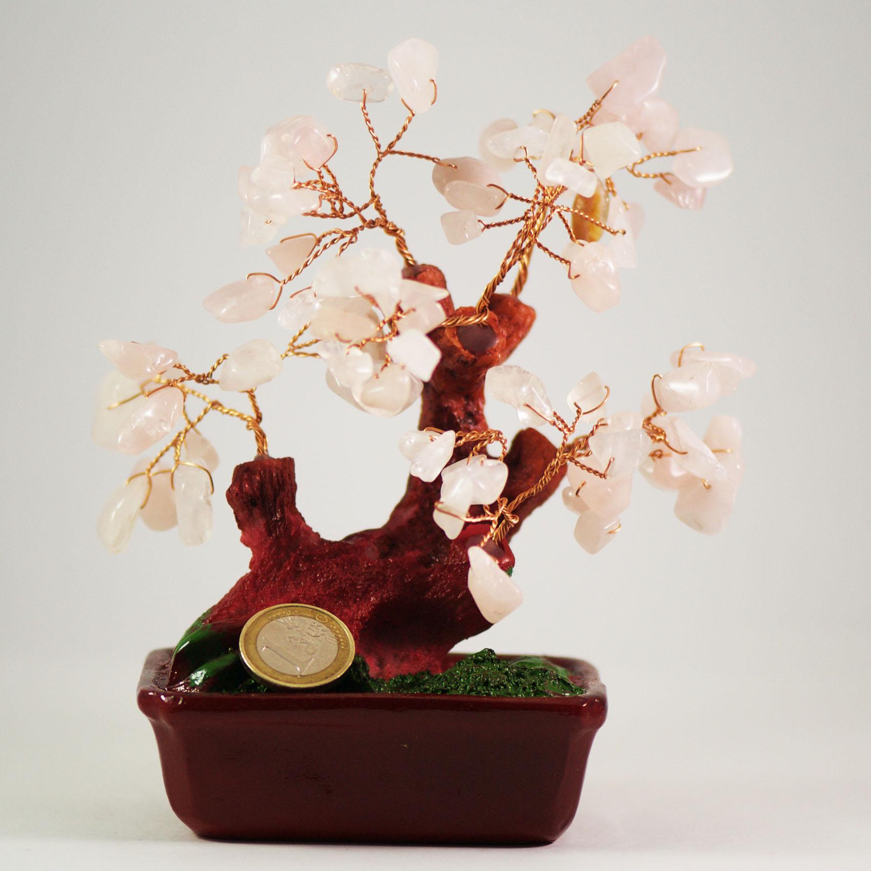 arbre de prospérité quartz rose B