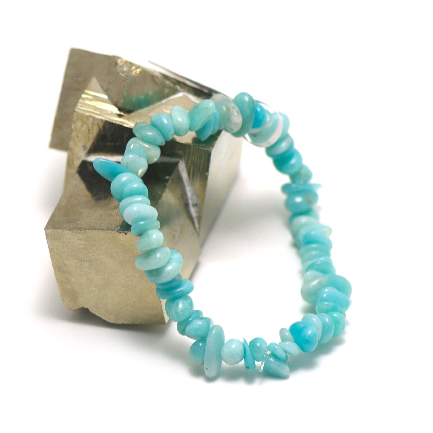 bracelet amazonite , perle  chips