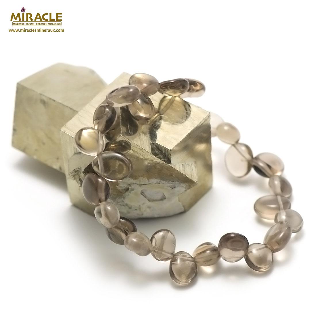 Bracelet Quartz fumé Ts baroque