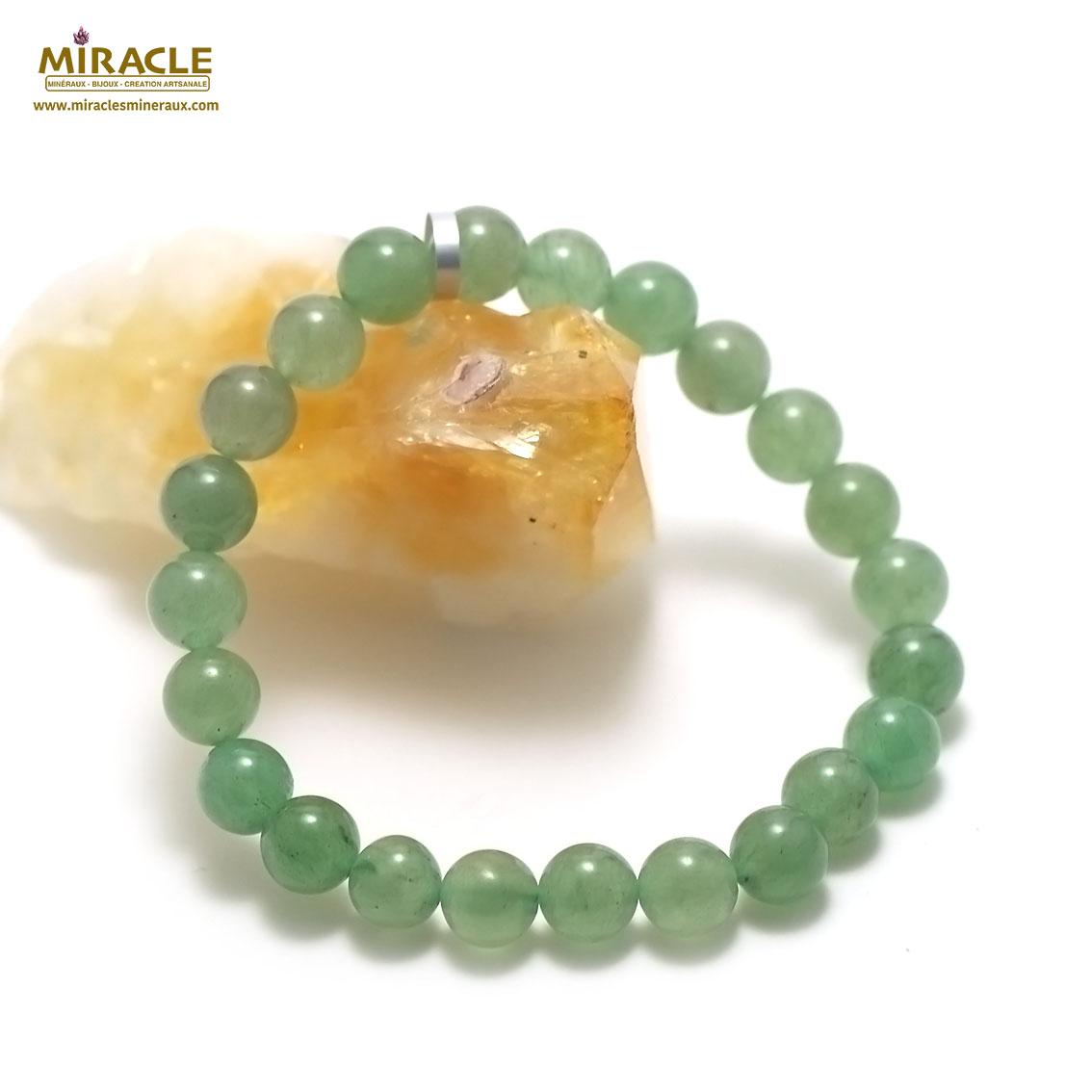 bracelet aventurine perle ronde 8 mm