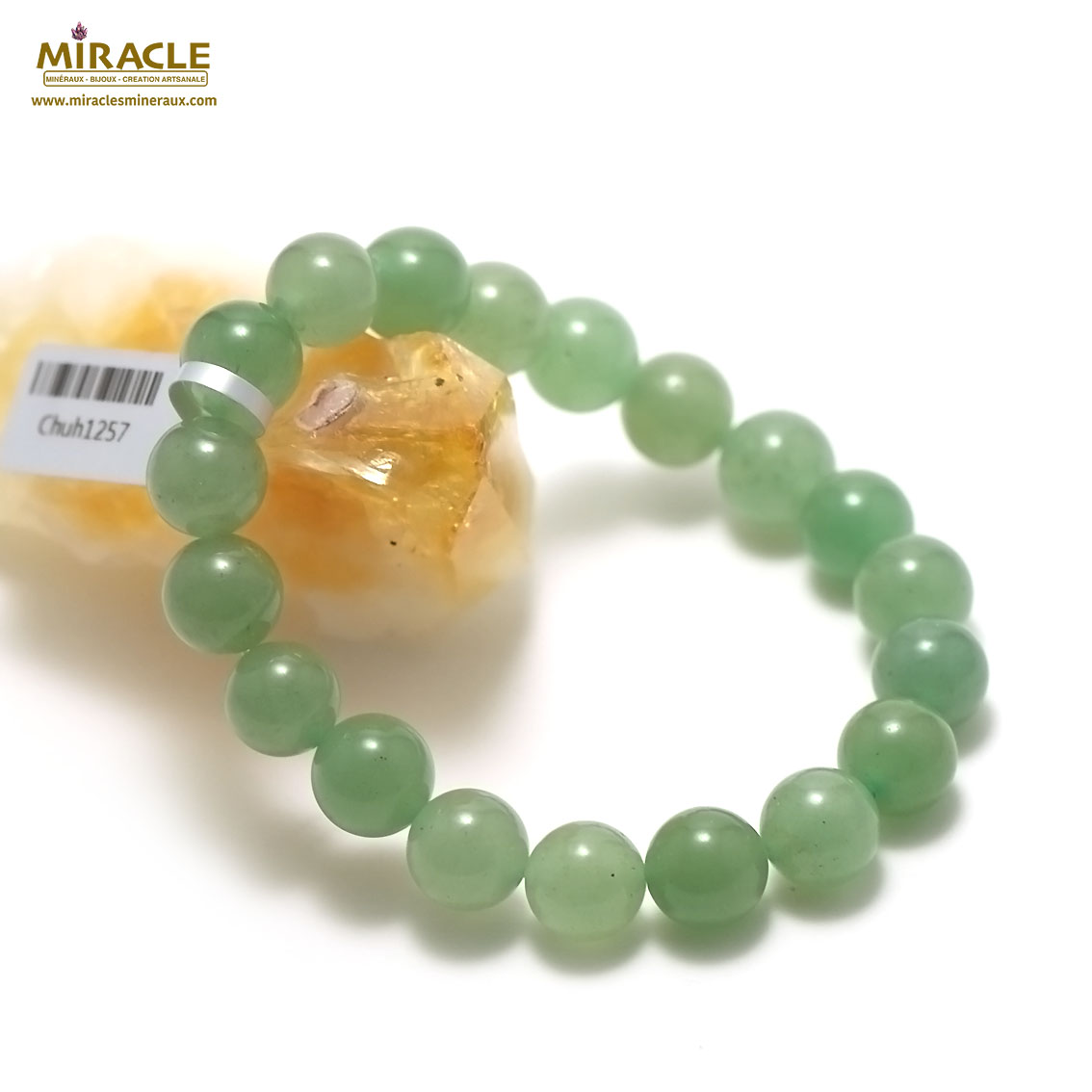 bracelet aventurine perle ronde 10 mm