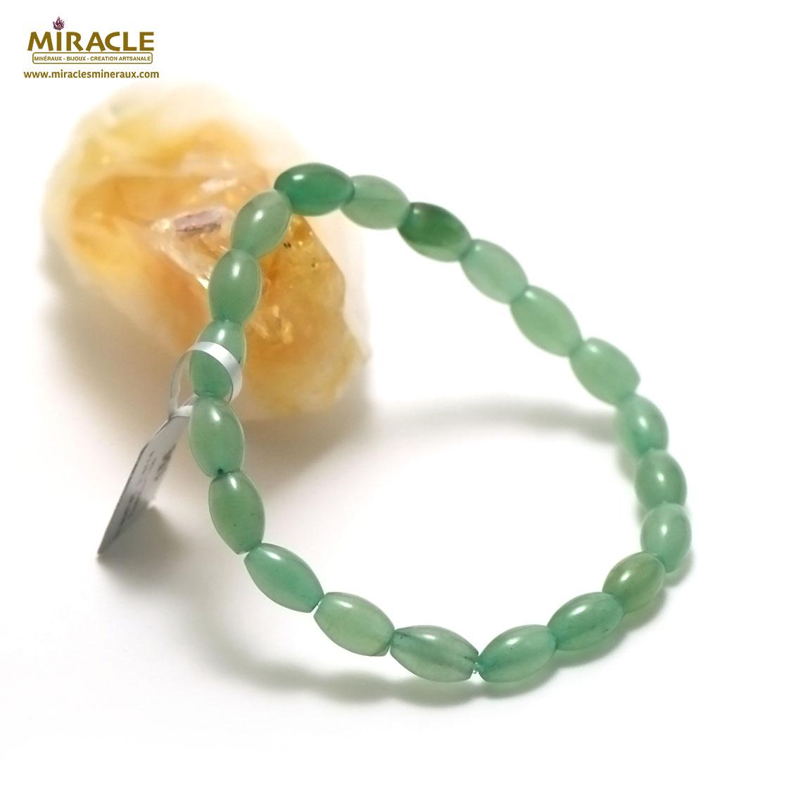 bracelet aventurine olive