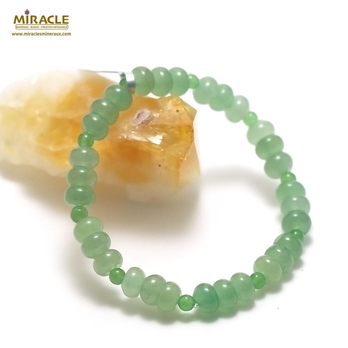 bracelet aventurine ronde 4 mm/rondelle,002