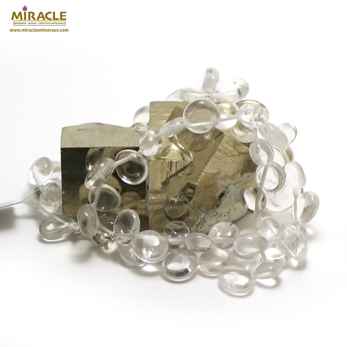 collier cristal de roche Ts baroque
