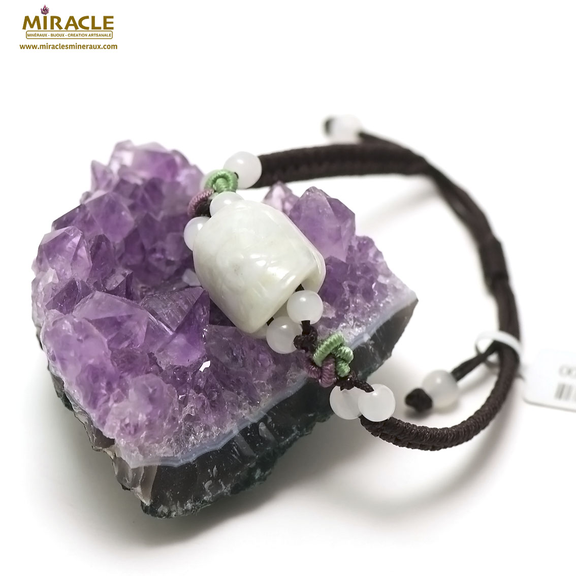 bracelet jade sur cordon tortue