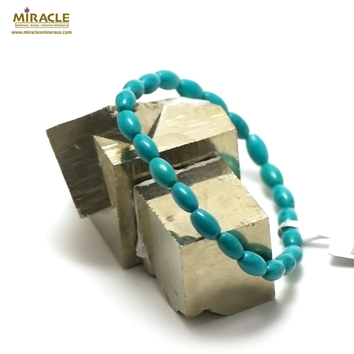 bracelet turquoise  mini olive, pierre naturelle