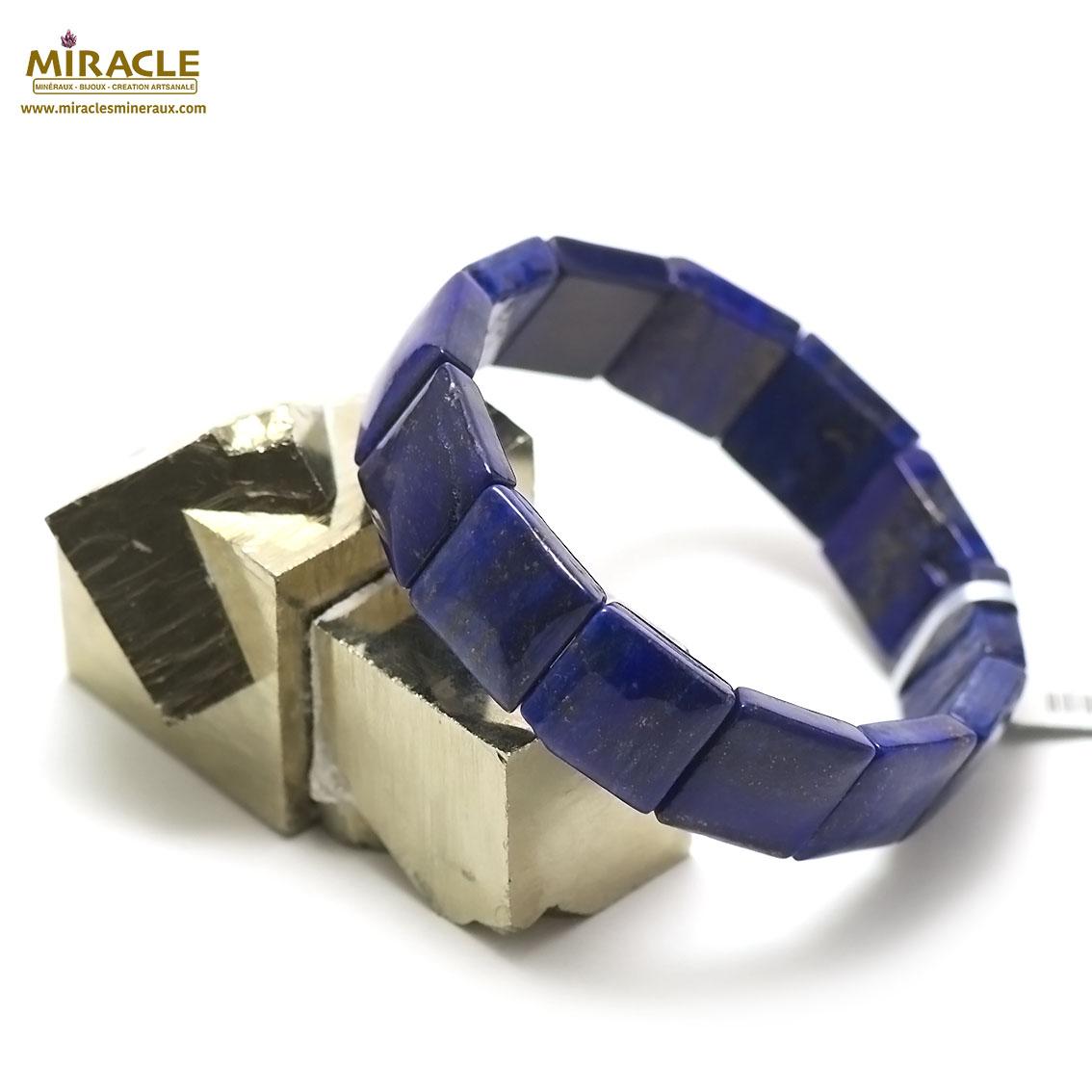 bracelet lapis lazuli plaquette carrée