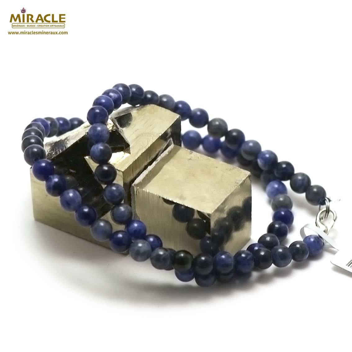 collier sodalite perle ronde 6 mm