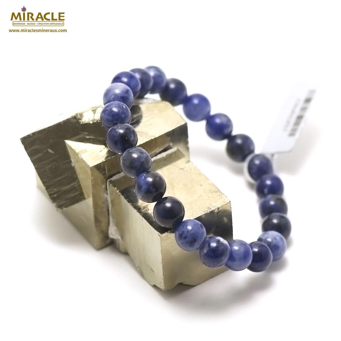 bracelet sodalite perle ronde 8 mm