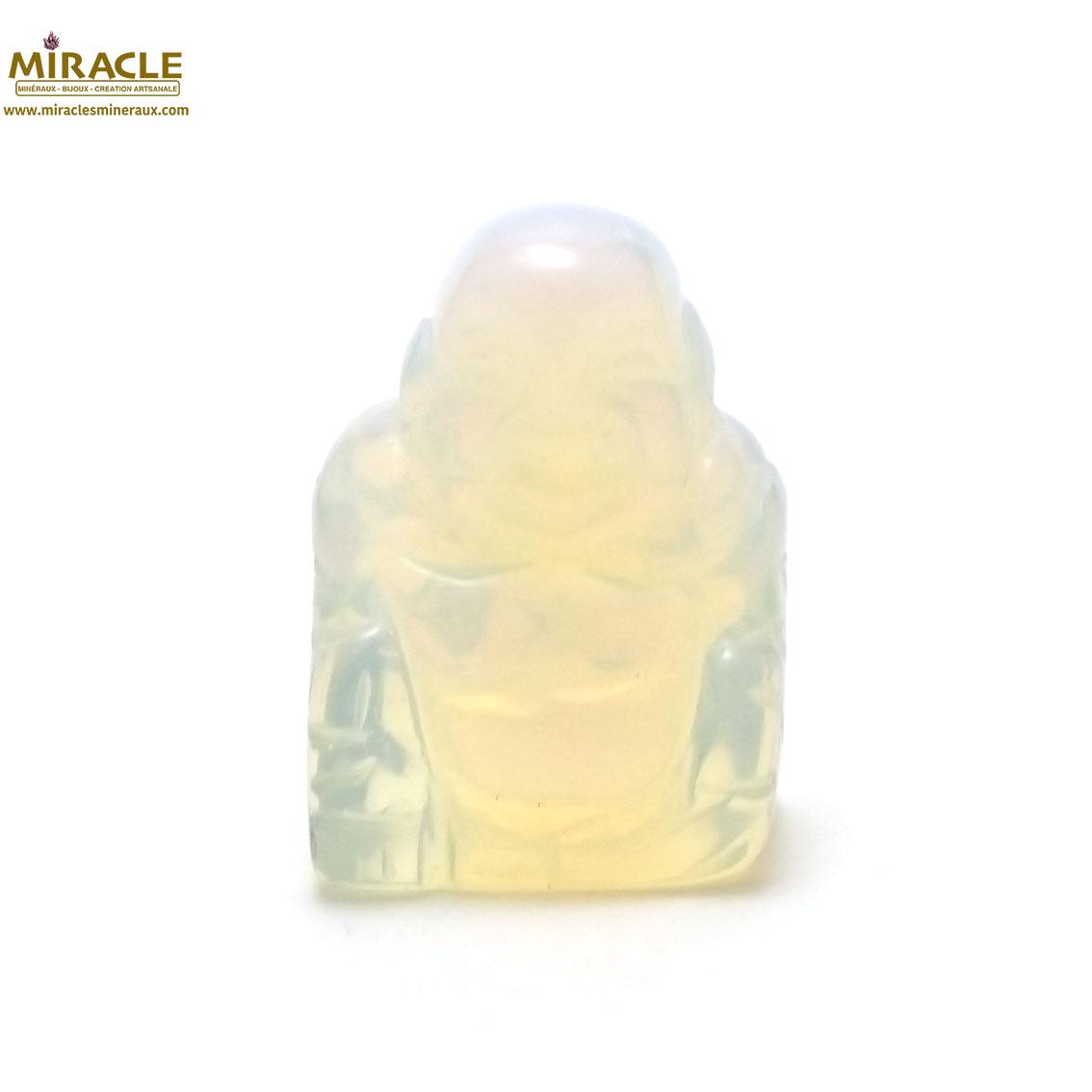 statuette minéraux  bouddha en pierre naturelle d\'opaline