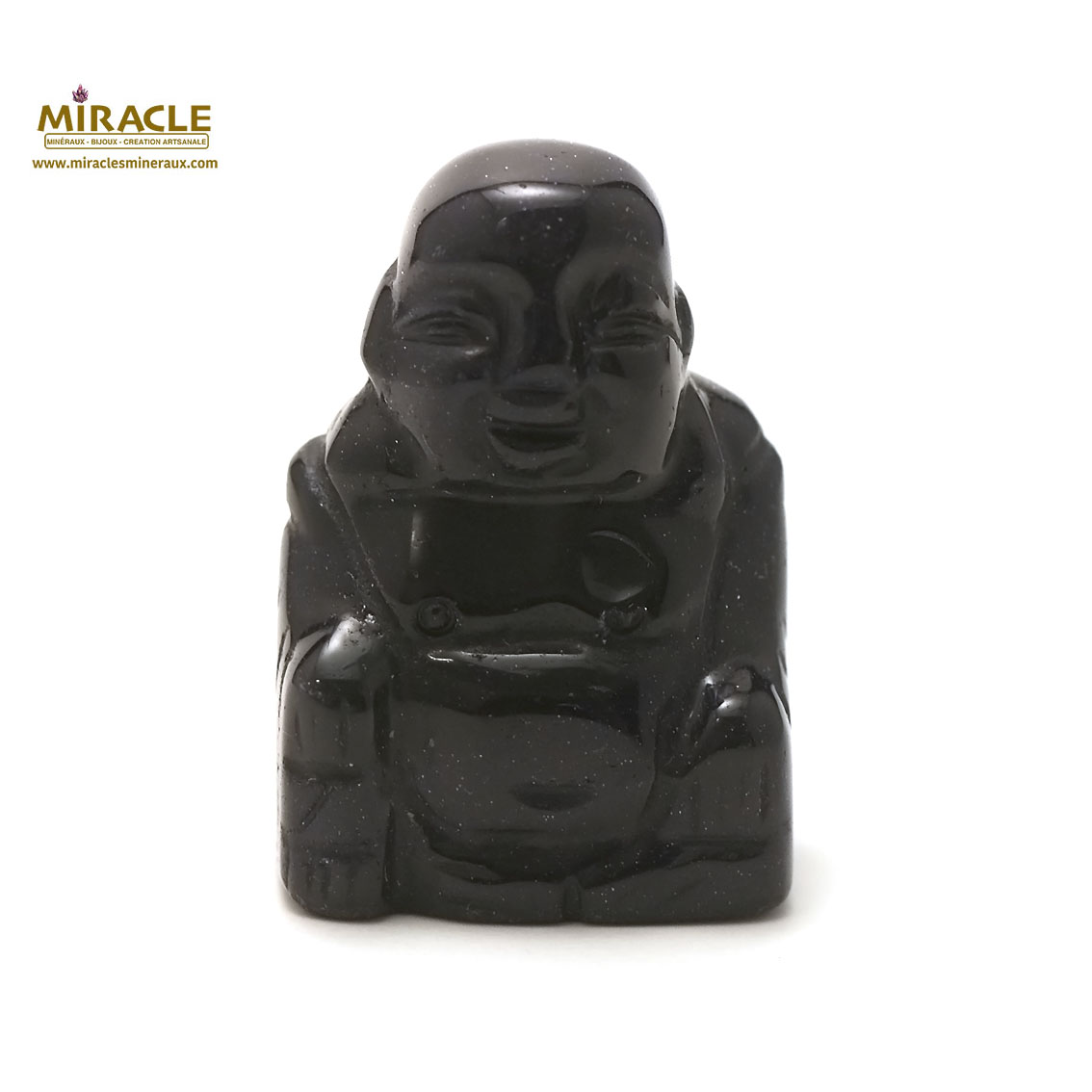 statuette minéraux bouddha, pierre naturelle de pierre de nuit