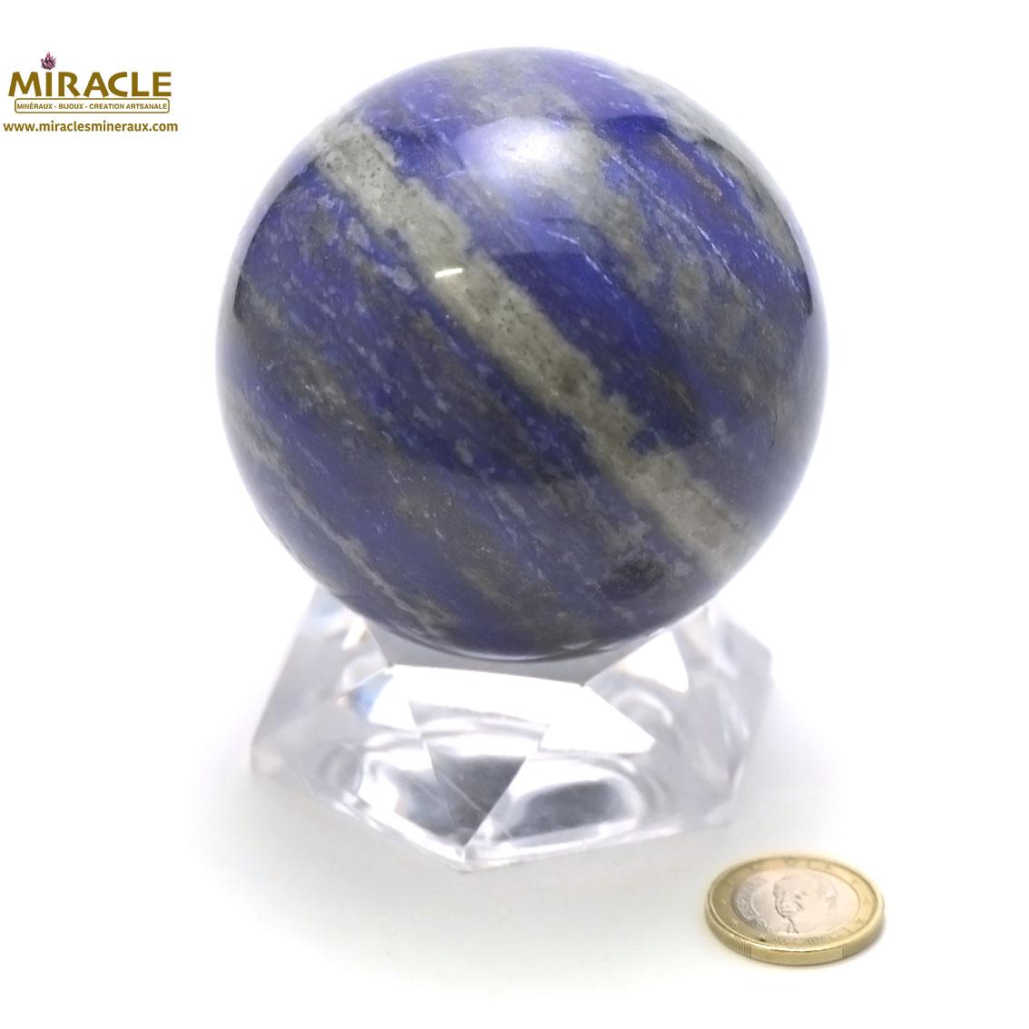 Magnifique sphère minéraux en lapis lazuli 8,5 cm