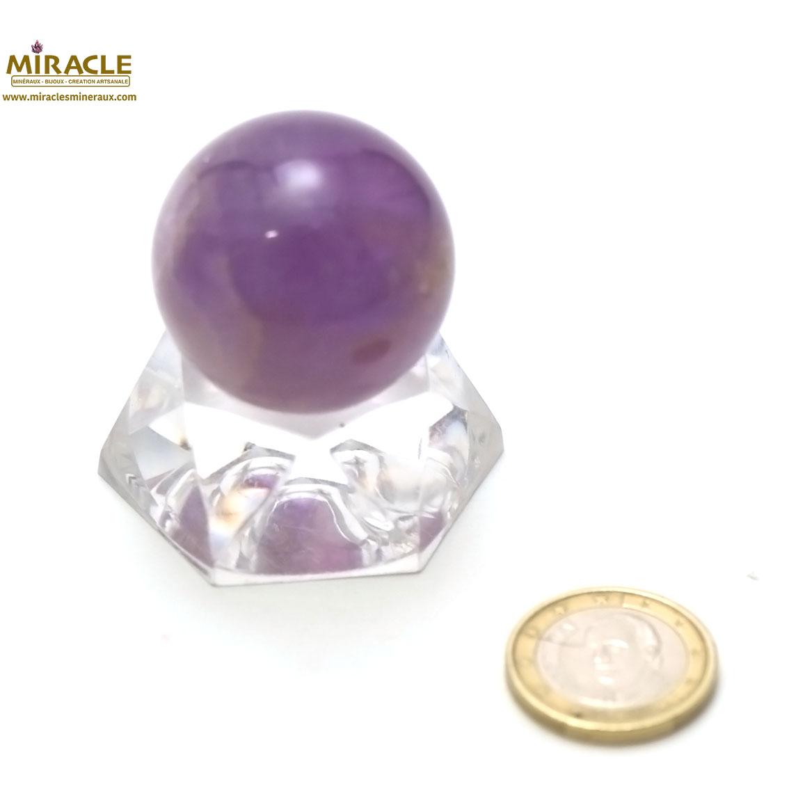 boule en pierre naturelle d\'améthyste 3.3 cm