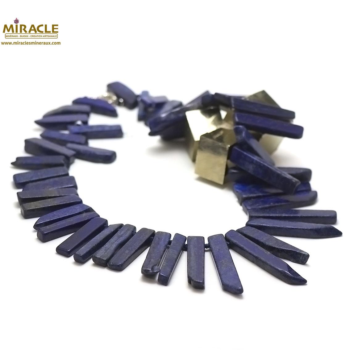 Magnifique collier en Lapis lazuli pointe baroque