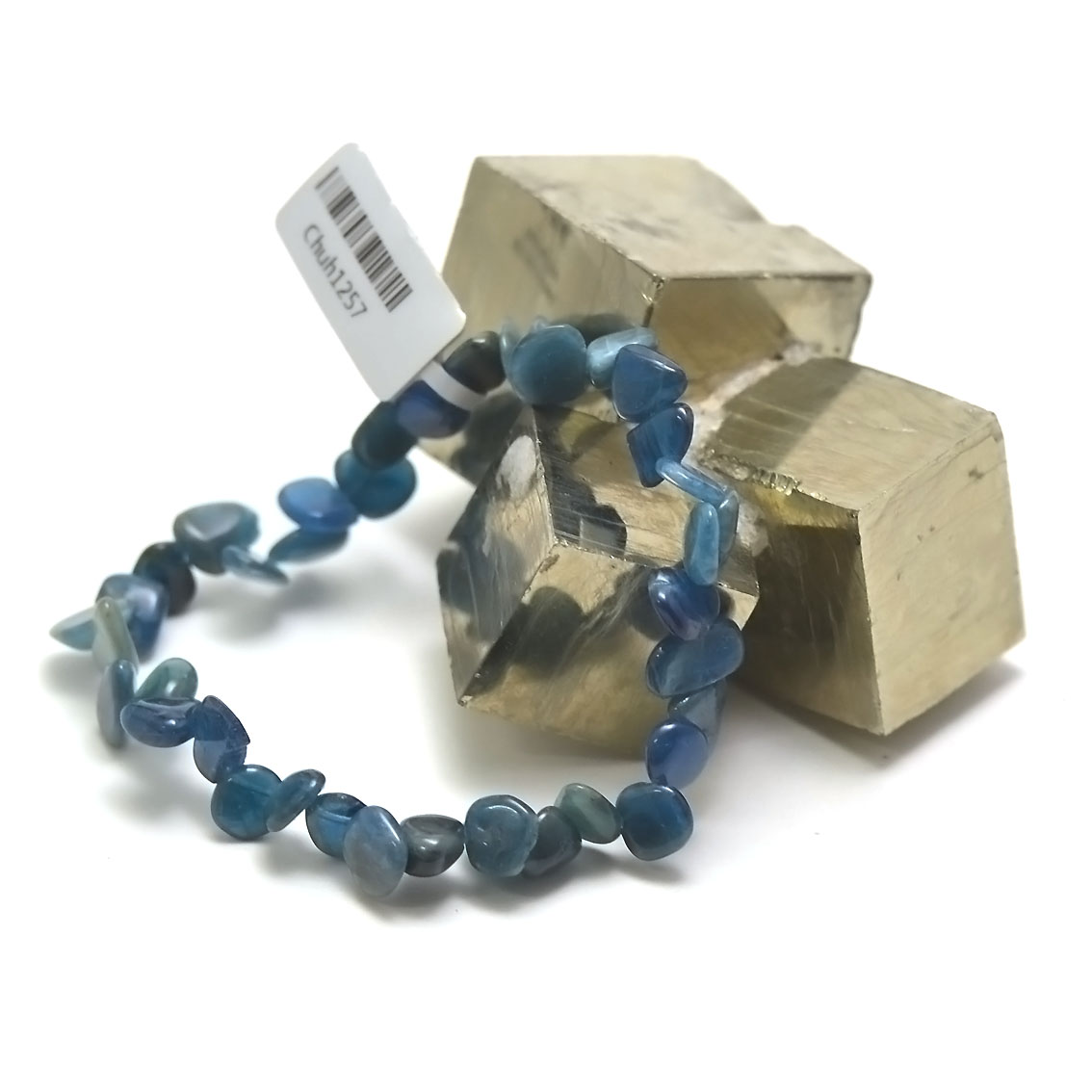 bracelet apatite, perle grand chips