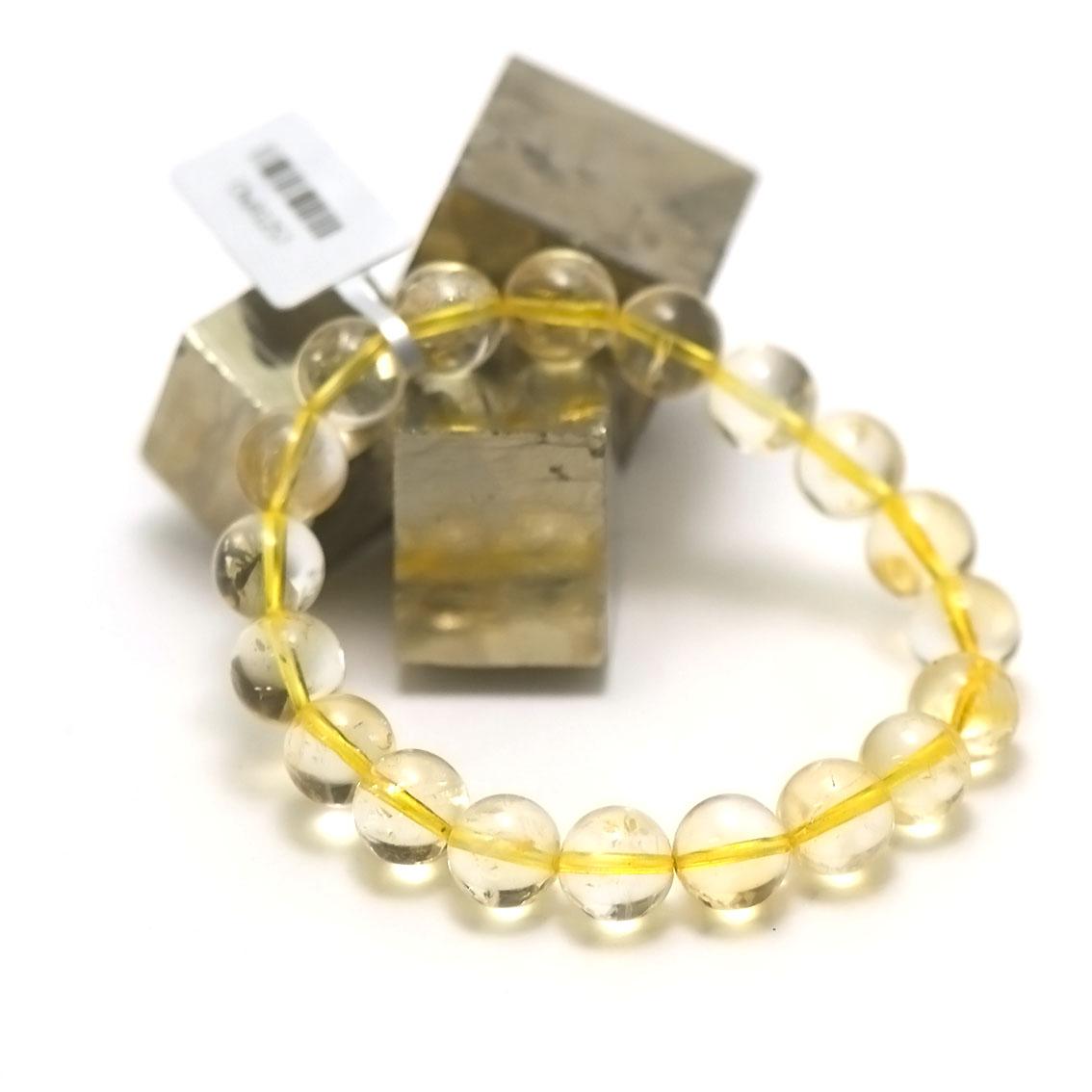 bracelet citrine ronde 10 mm