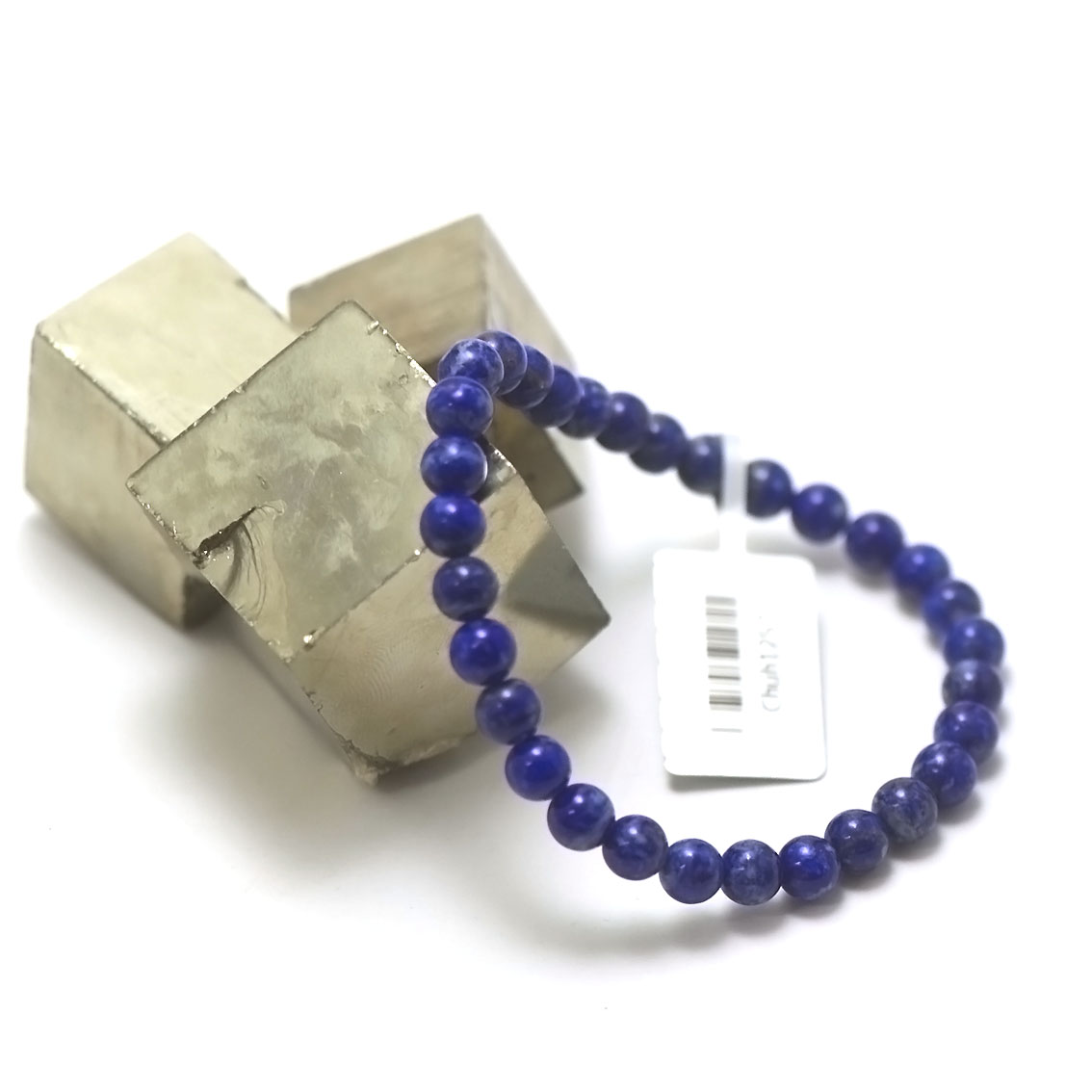 bracelet lapis lazuli ,  perle ronde 6 mm