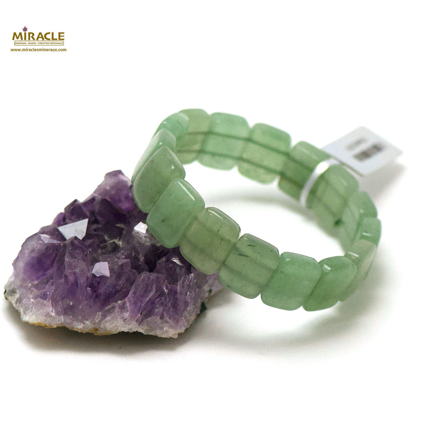 bracelet aventurine plaquette rectangle