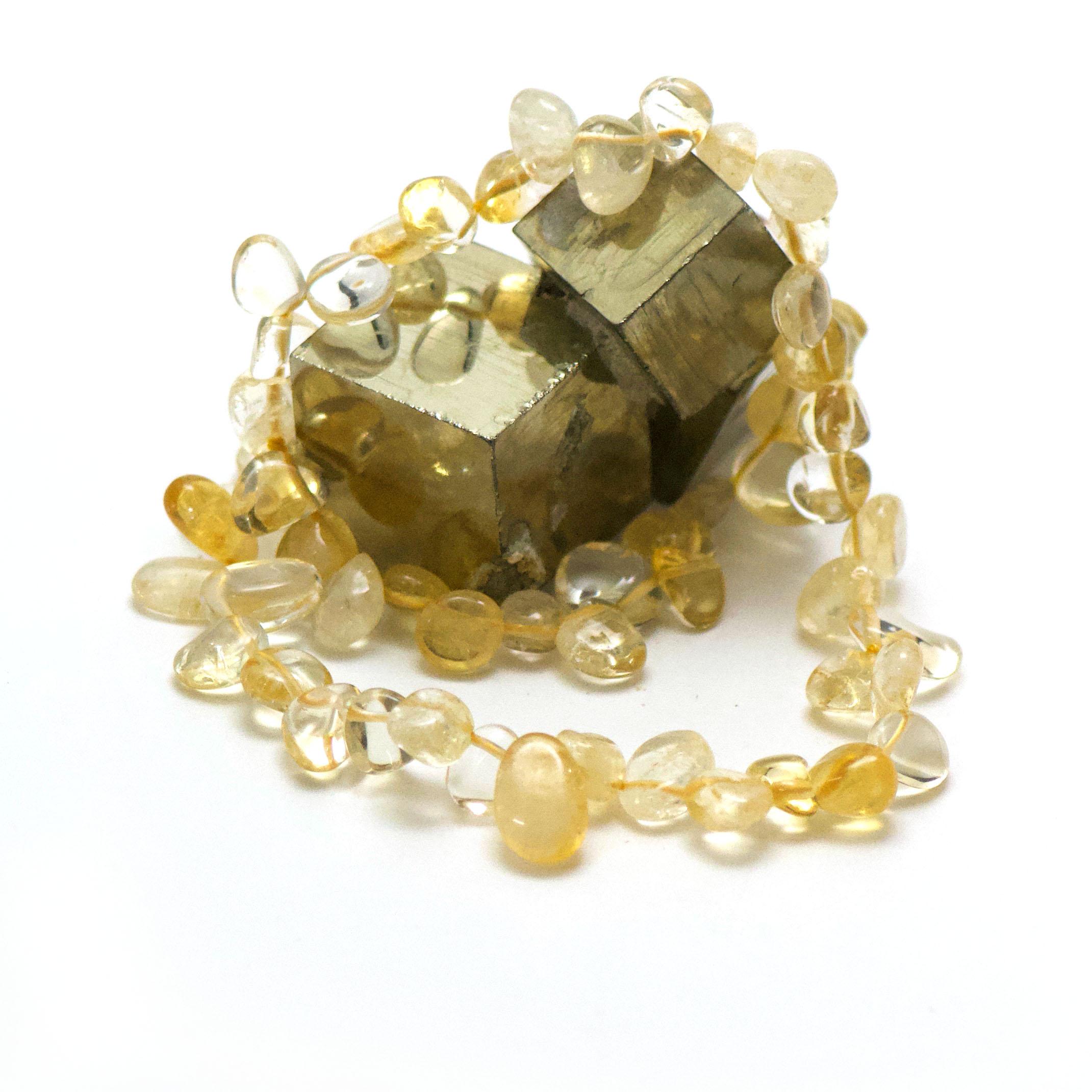 Collier citrine Ts baroque