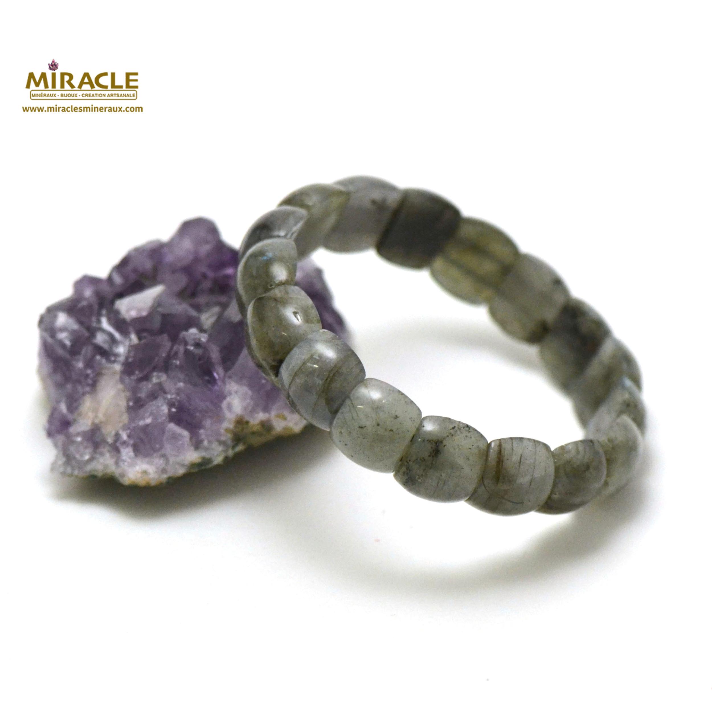 bracelet labradorite plaquette demi-rond