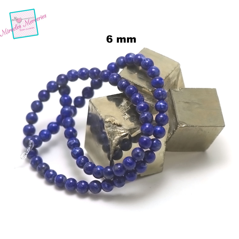 fil 39cm 63 pcs de lapis lazuli ronde 4-5 mm