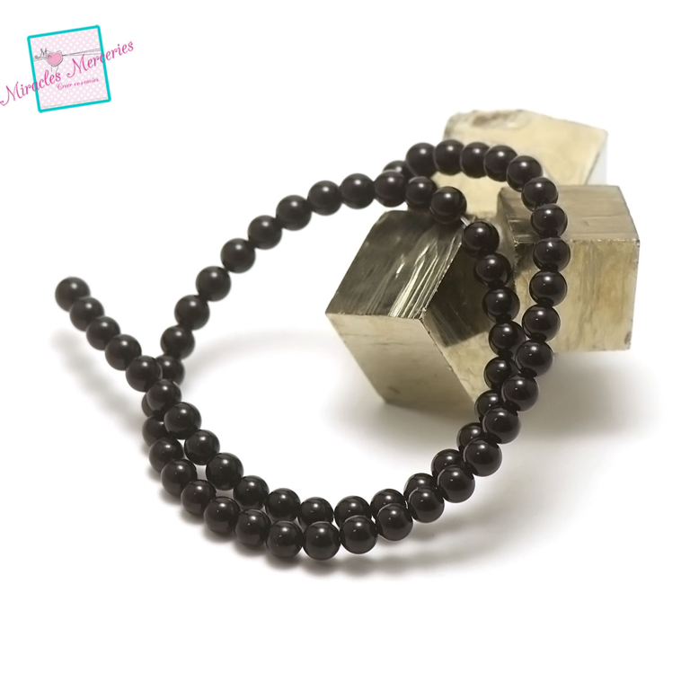 fil de 39 cm 63 perles d\'onyx ronde 6 mm,pierre naturelle