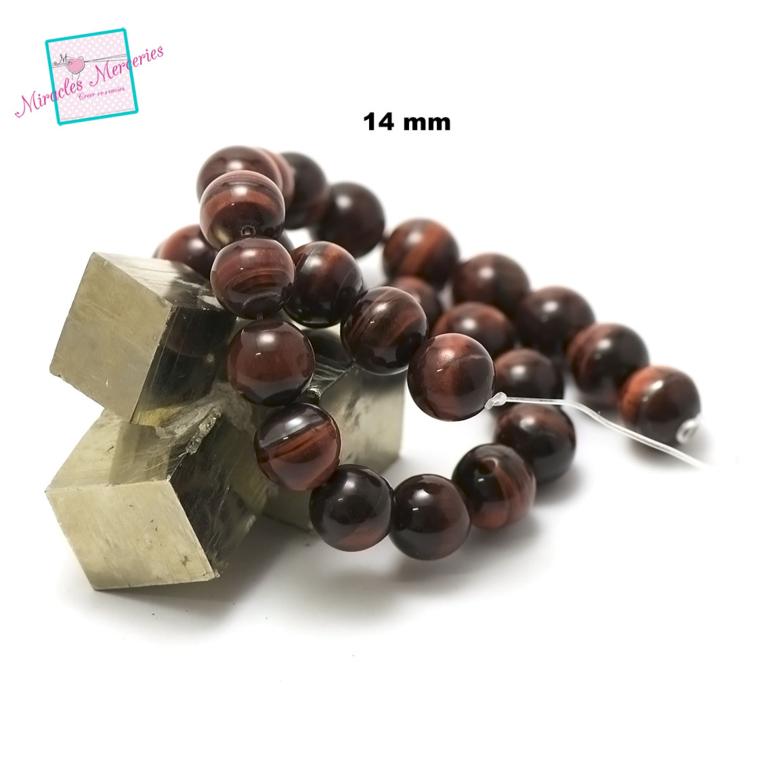 fil de 39 cm env 28 perles de l\'oeil de taureaux ronde 14 mm