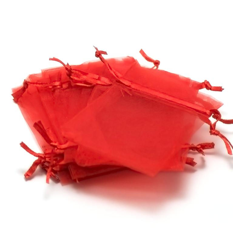 10 petites pochettes cadeaux organza 9,5x6,5 cm