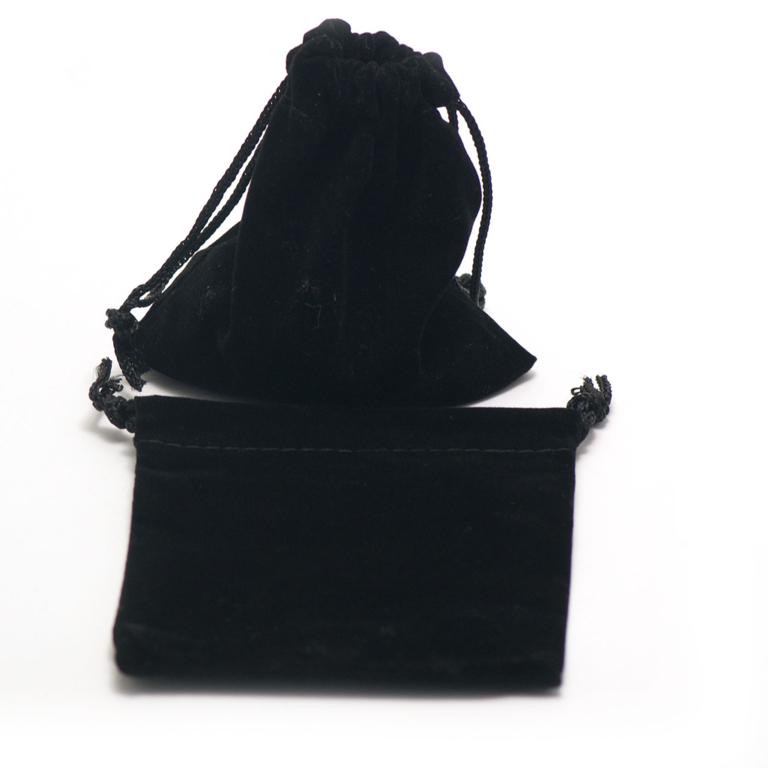 2 pochettes cadeaux en velours 10 x 9 cm, noir