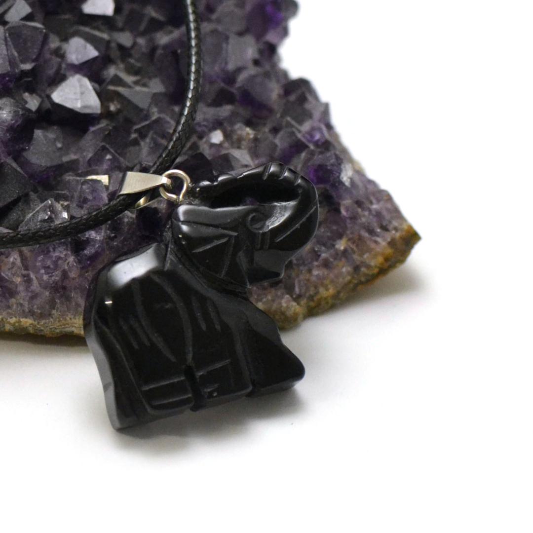 1 pendentif onyx éléphant 40x32 mm, pierre minéraux naturelle