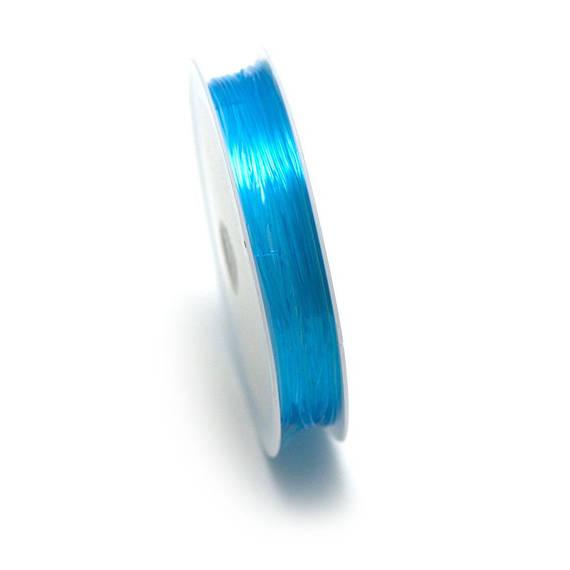 1 bobine de fil élastique (5 m x 0,8 mm),bleu turquoise