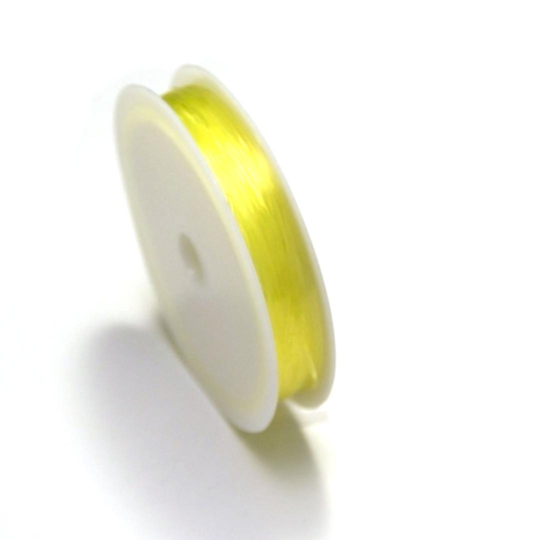 1 bobine de fil élastique (5 m x 0,8 mm),citron