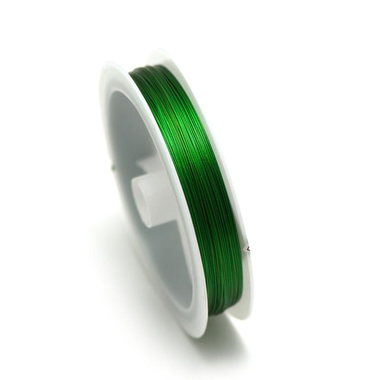 Fil câblée 0.38 mm ( bobine de 100 m ) ,vert