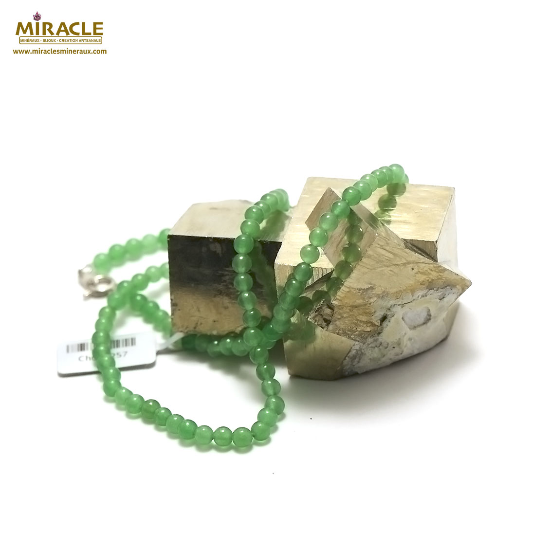 collier aventurine perle ronde 4 mm