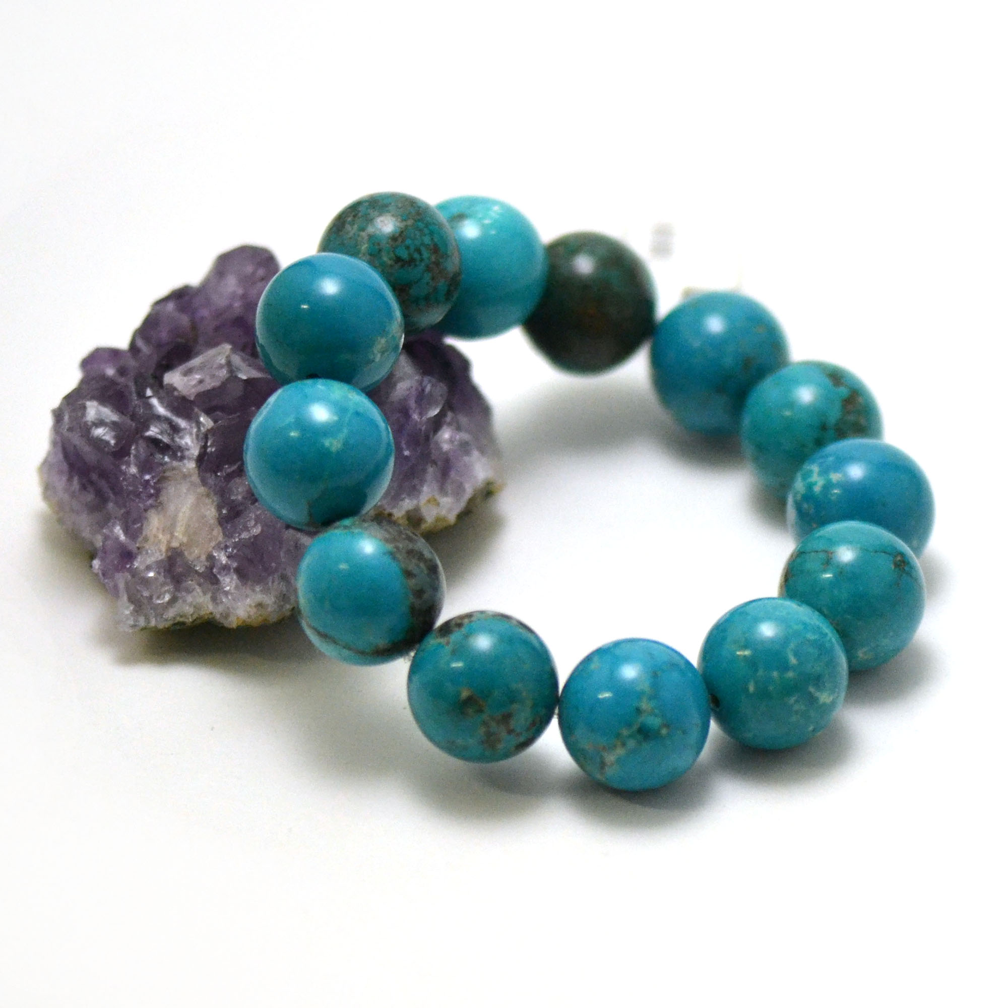bracelet turquoise perle ronde 16 mm