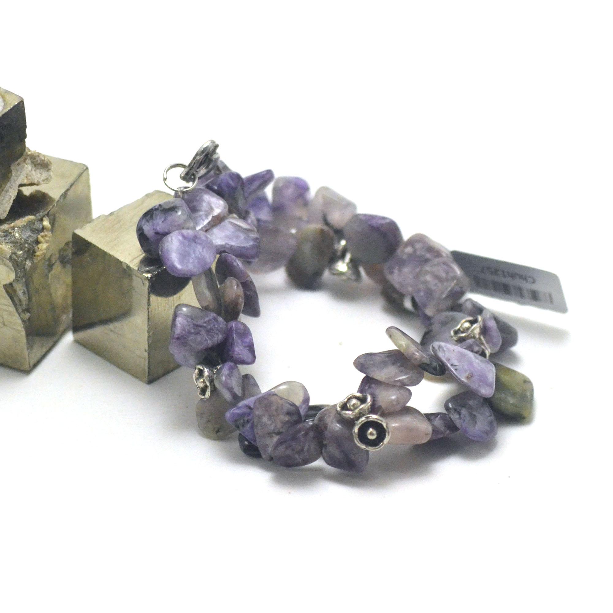 bracelet cristal de roche   Ts baroque - double rangs