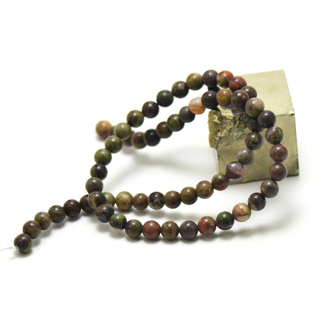 fil 39 cm de perles de rhyolite ronde 6 mm