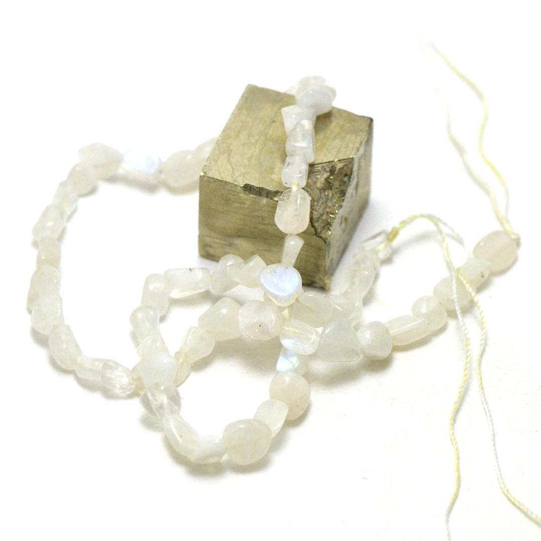 fil de 39 cm de pierre de lune pierre roulée, pierre naturelle