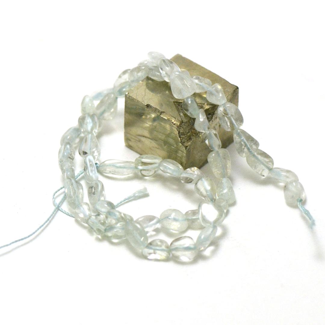 fil de 39 cm d\'apophyllite pierre roulée, pierre naturelle